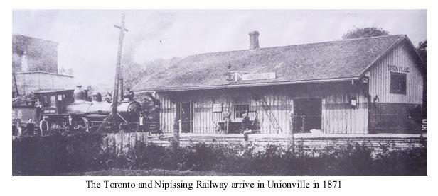 the Ontario Simcoe and Huron Railway
